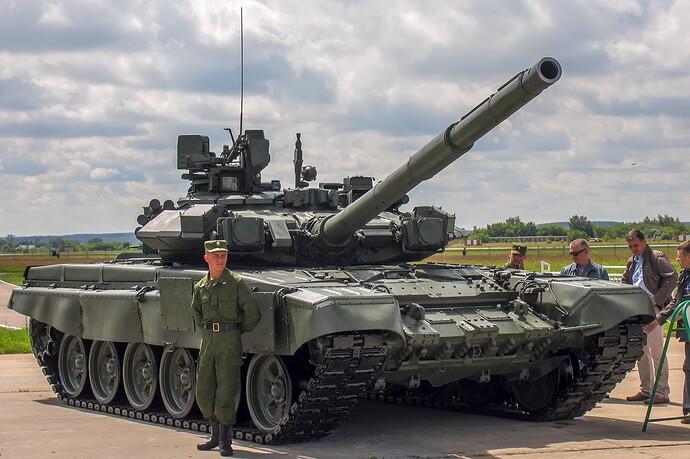 T-90A_main_battle_tank_at_Engineering_Technologies_2012