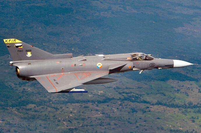 Kfir C10 Fuerza Aerea Colombiana FAC3059